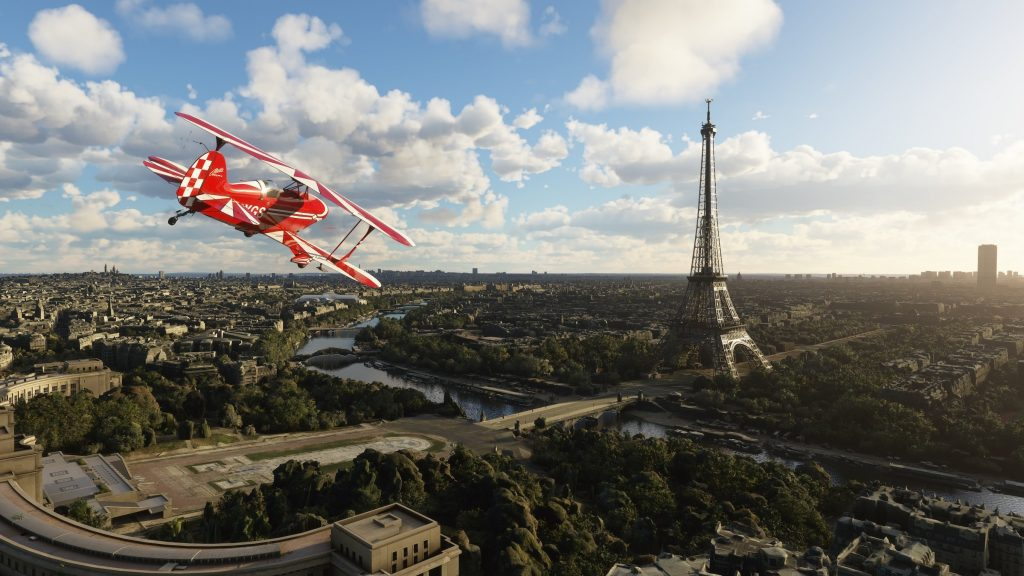 Microsoft Flight Simulator offers models for Paris in an amazing way