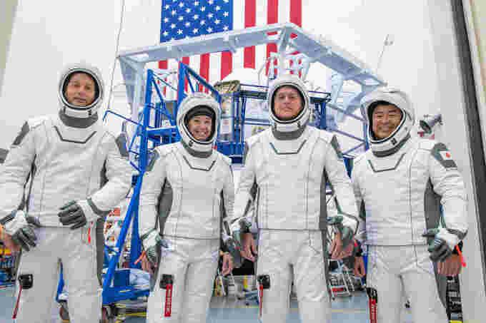 Crew-2 NASA SpaceX team members