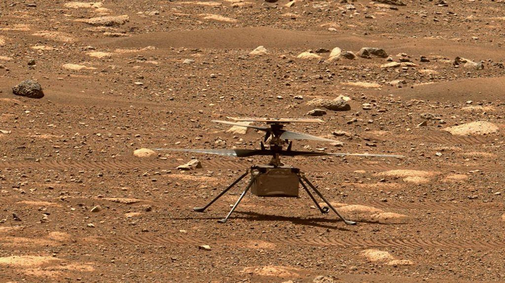A small NASA helicopter made its first flight to Mars