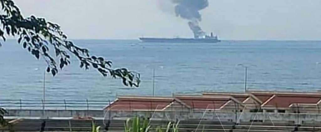 An Iranian oil tanker was hit in an attack near Syria: Three dead
