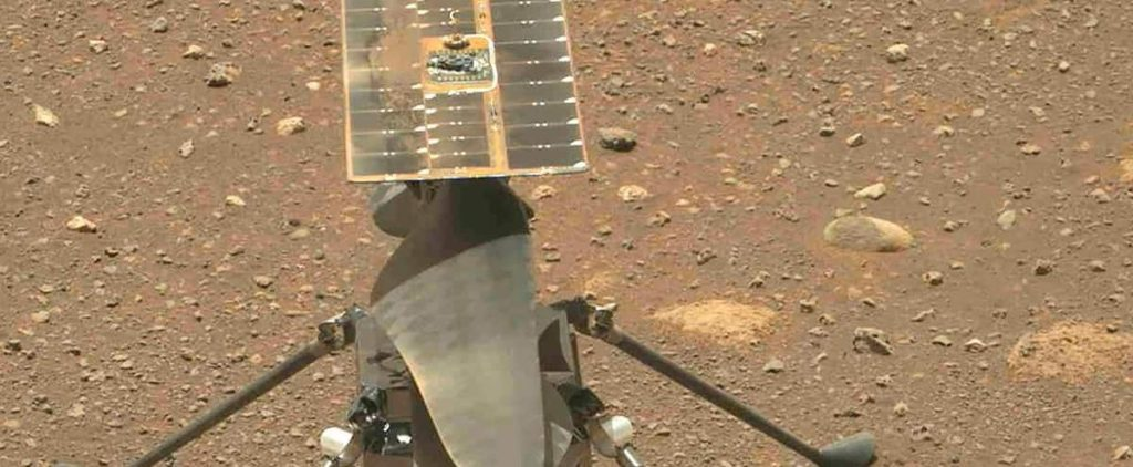[EN IMAGES] Historic creativity helicopter flight on Mars