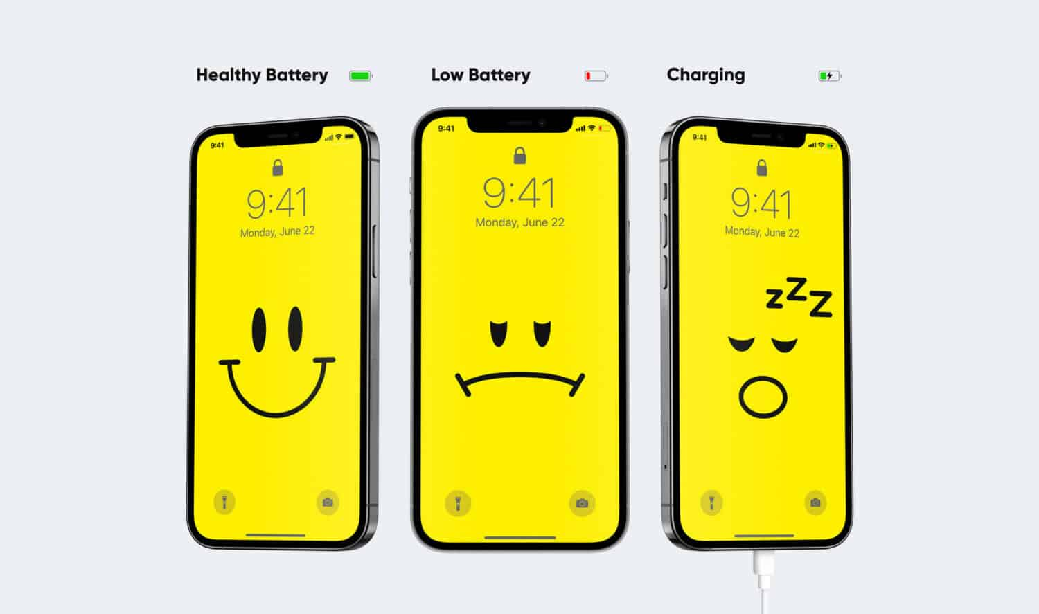 iPhone: wallpapers that change depending on the battery level