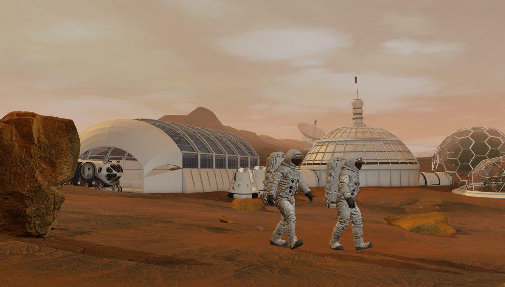 Mars colonie survie humanité