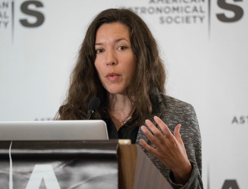 Austin, TX - AAS 2017 - Stephanie Juneau during the Monday AM Press Conference at the American Astronomical Society