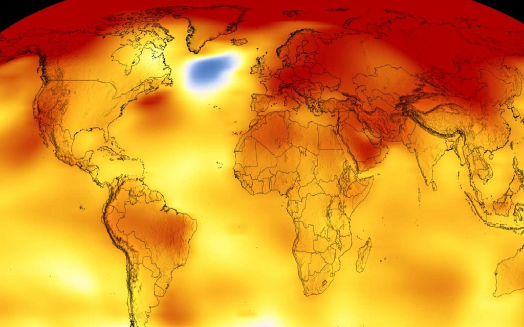 Des chercheurs de la Nasa nous proposent aujourd'hui de visualisation le réchauffement climatique, grâce à des courbes d'anomalies de température. © Nasa