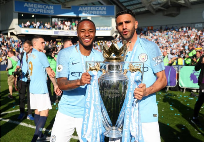 Riyad Mahrez and Manchester City are official champions
