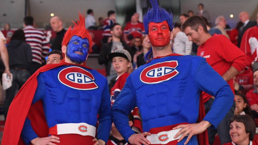 The Canadiens: The crowd is back after more than a year of absence