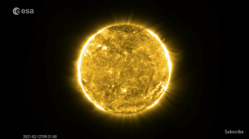 The orbiting solar probe saw its first solar flare and provided us with a beautiful video