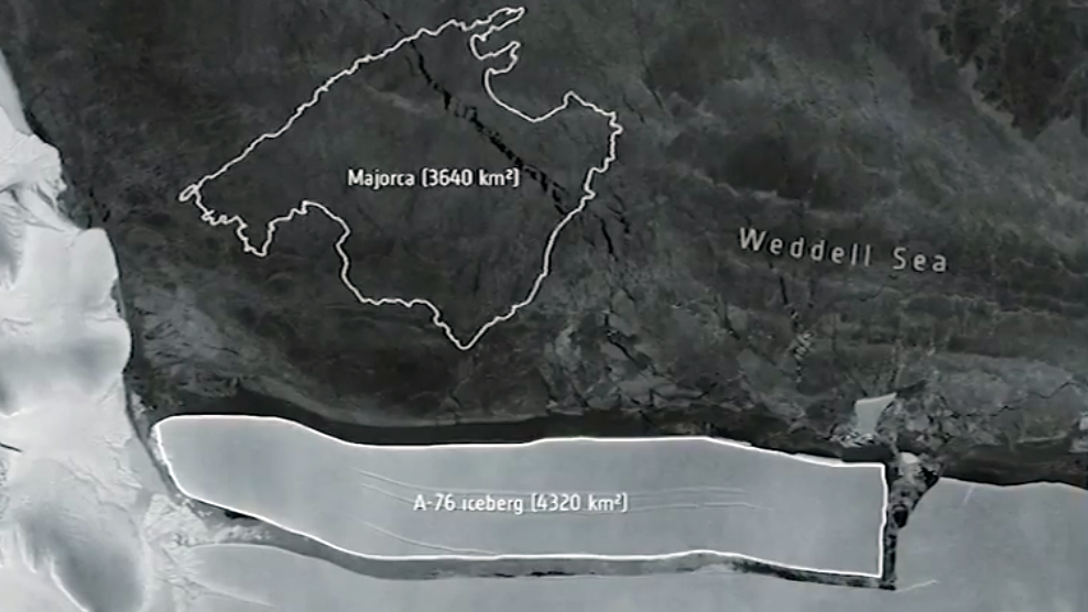 The world's largest iceberg has separated from Antarctica