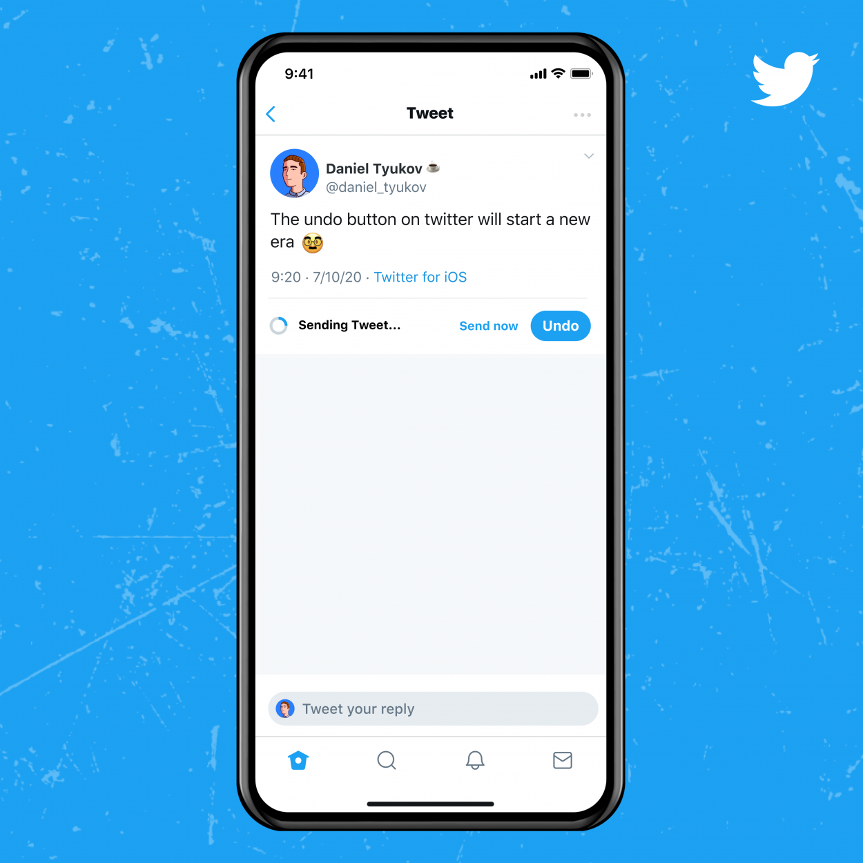 An animation will tell the user how much time is left to cancel their tweet