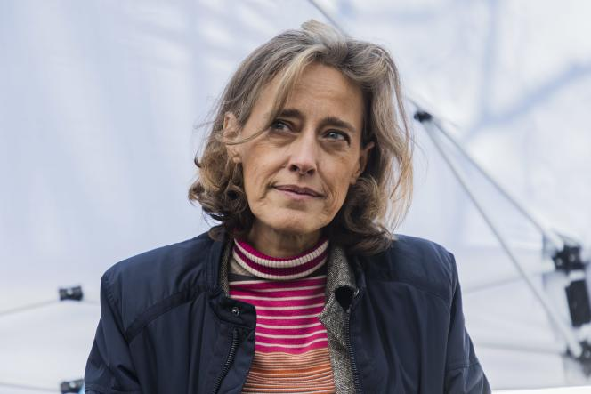 Alexandra Henrion Code in Paris, March 20, 2021, during a rally