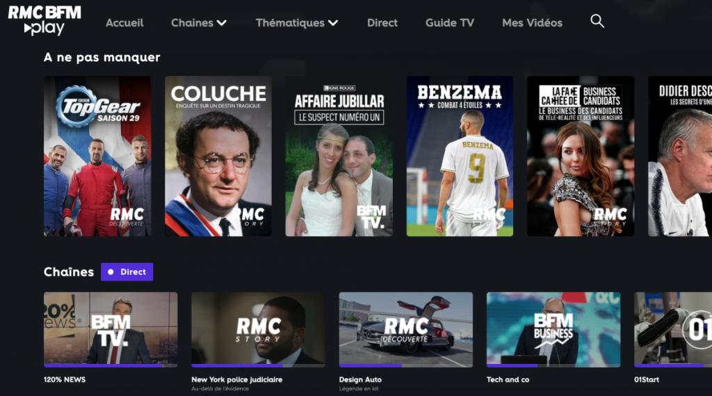 Altice Media lance sa plateforme AVOD RMC BFM Play - Image