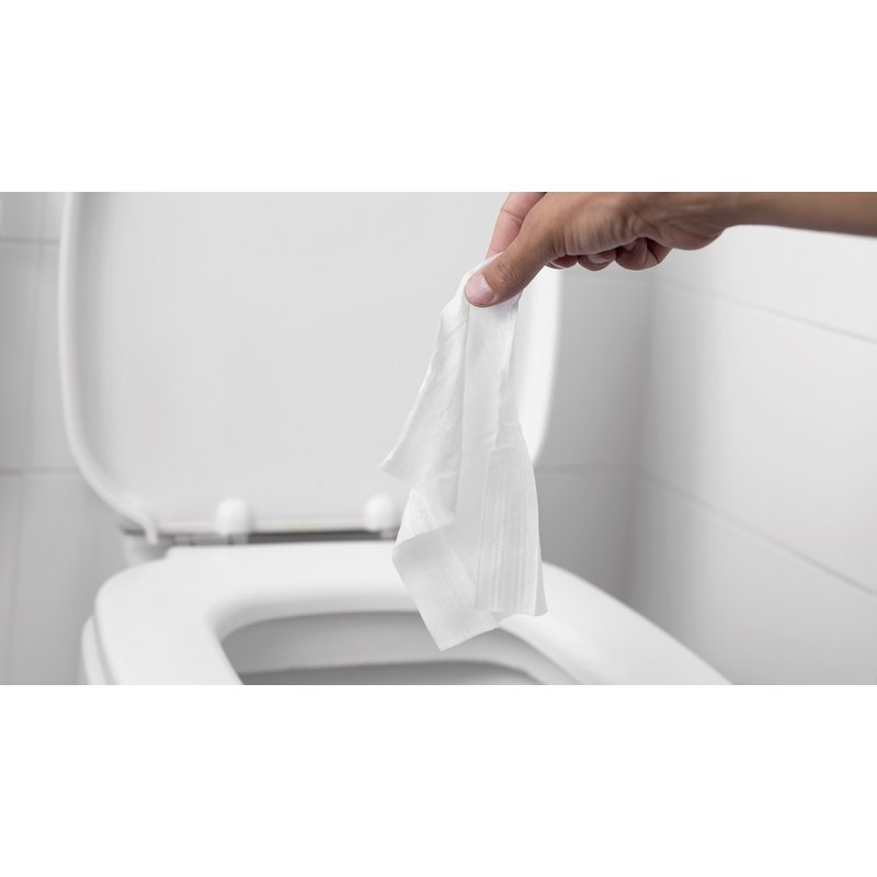 Disposable wipes in the toilet?  bloomer