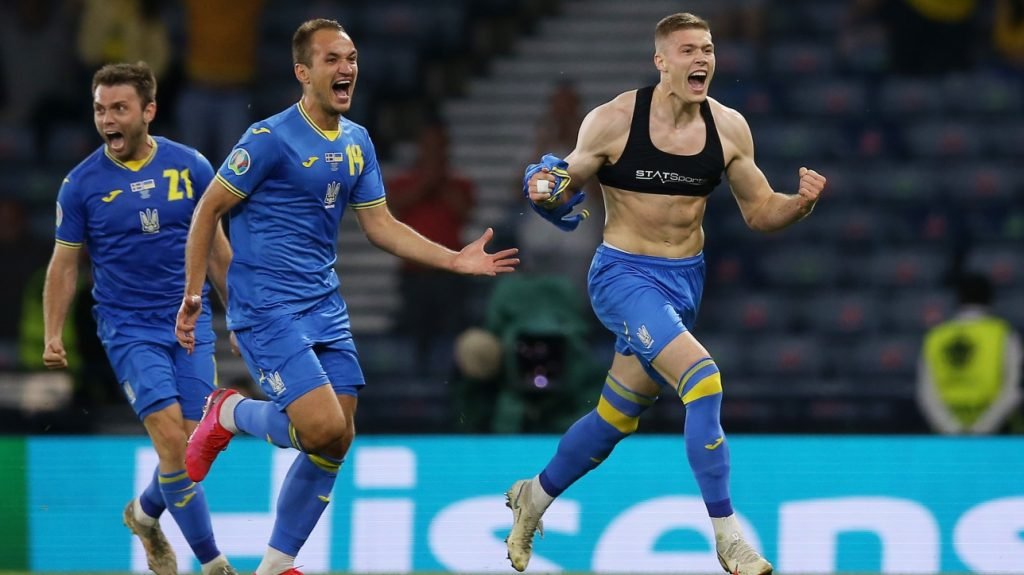 Euro: Ukraine join England in the quarter-finals