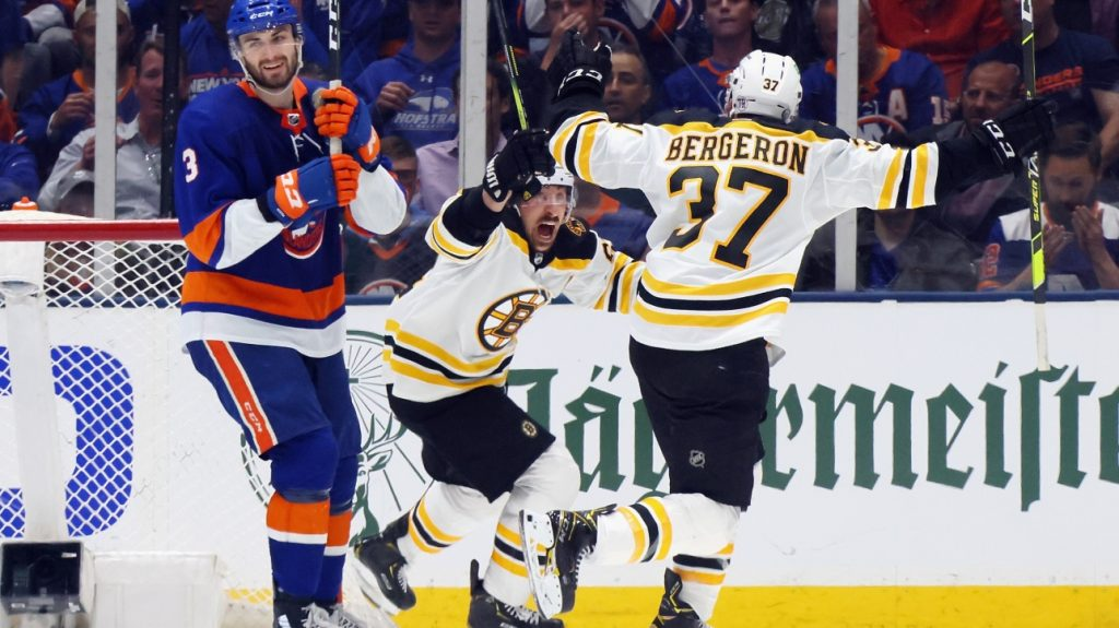 NHL Playoffs: Bruins win Game 3 in overtime.  Against the islanders thanks to Brad Marchand