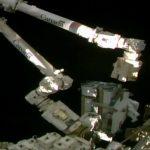 Spacewalk II by Thomas Pesquet and Shane Kimbrae