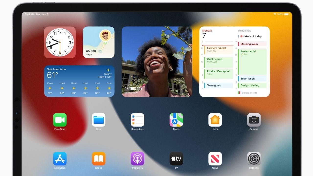 iPadOS is finally getting home screen widgets.  Photo: Apple
