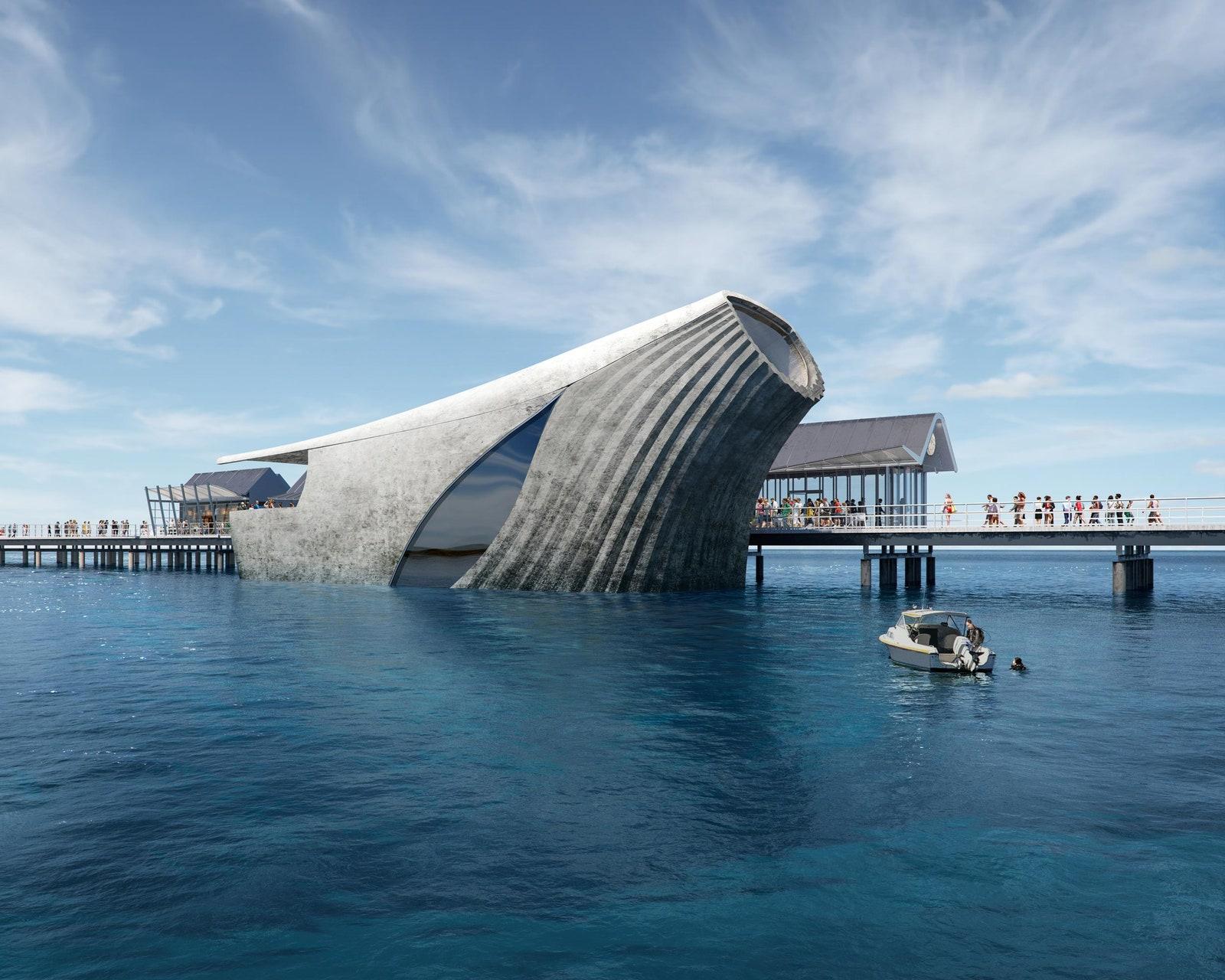 Australia will run a natural marine laboratory with amazing architecture
