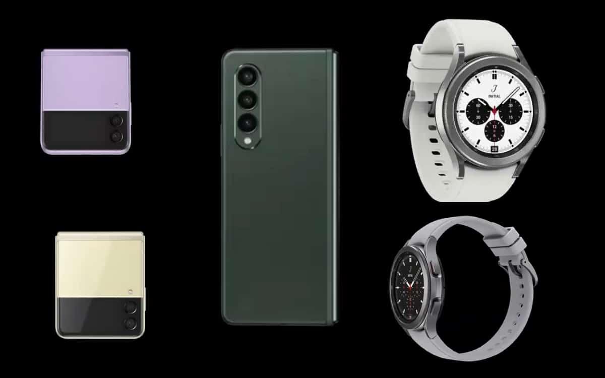 Galaxy z fold 3 z flip watch 4 . design