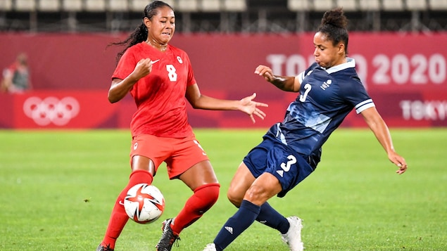 Canada qualified for the women's soccer quarter-finals