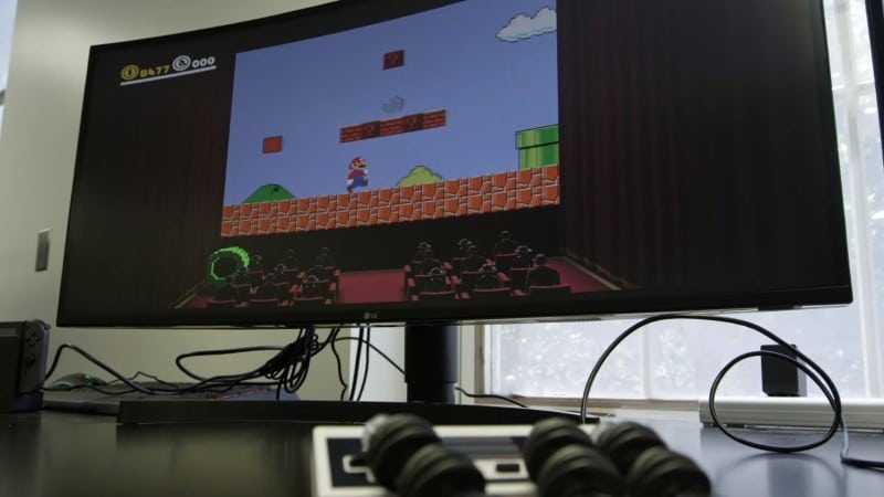 Picture 1: A flexible robotic hand completes the first level of Super Mario Bros