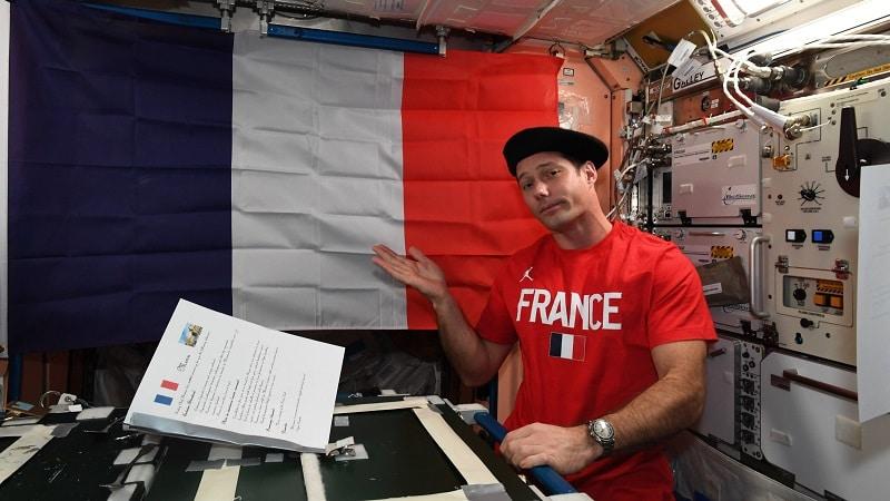 Thomas Pesquet celebrates July 14 aboard the International Space Station
