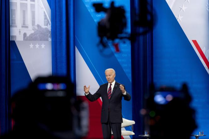 US President Joe Biden on July 21, 2021 in Cincinnati.