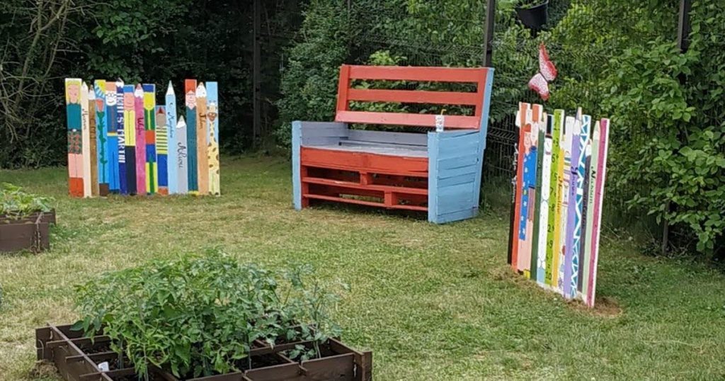 Residents create a beautiful green space