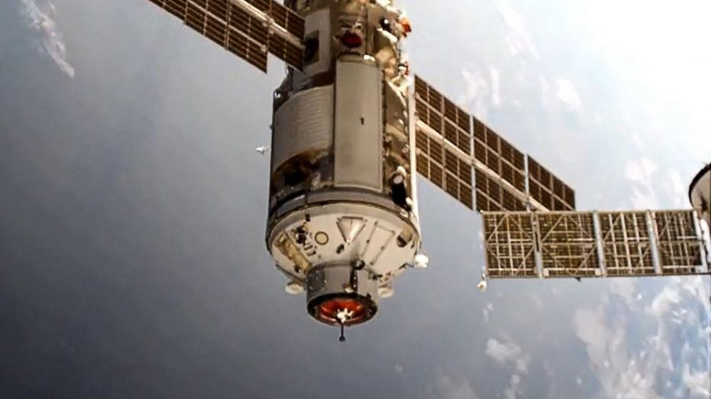 The Russian scientific unit Nauka joined the International Space Station
