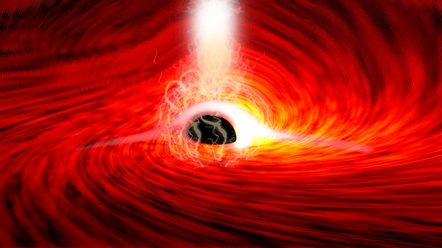 The light behind a black hole was discovered for the first time