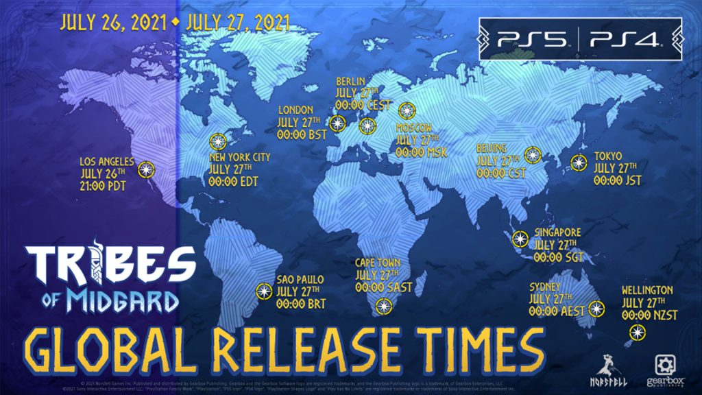 Tribes of Midgard release time, when is the game released?  - Break Flip