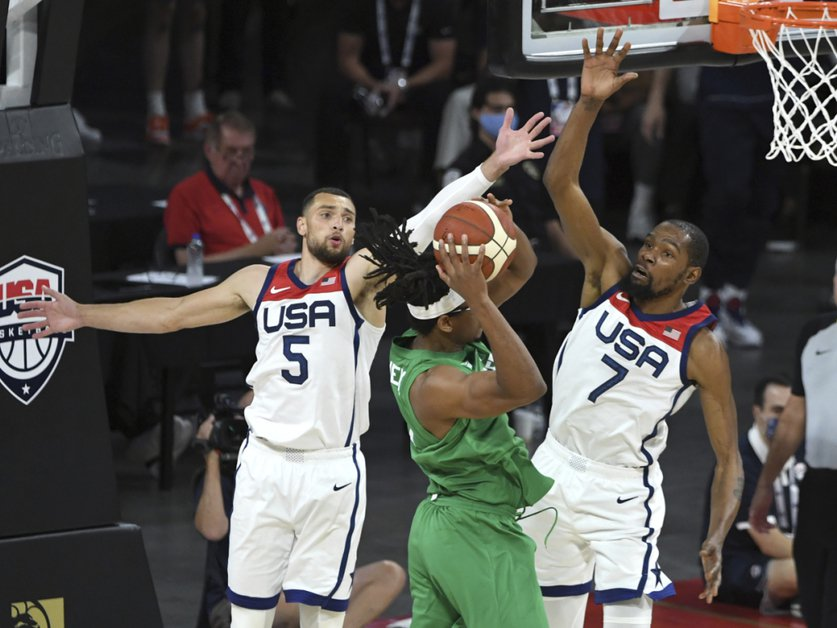 L'apport de Kevin Durant (ici face au Nigeria) n'a pas suffi contre l'Australie non plus. © KEYSTONE/AP/David Becker