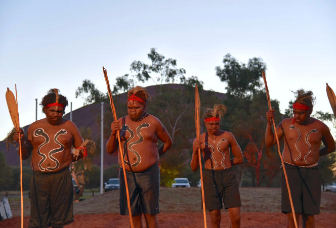 Tribal dancers at the opening of the summit on May 23, 2017 in Uluwatu, Northern Territory.