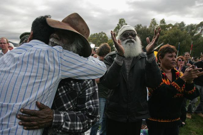 Before the Australian Parliament, February 13, 2008, in Canberra.