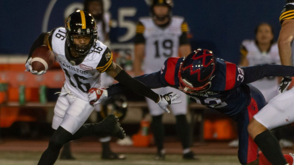 Canadian Football League: Montreal Aloet lost 27-10 to Hamilton Tiger Cats