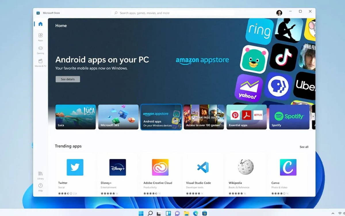 Windows 11 Android app