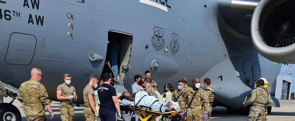 The Afghan born on a US military plane was named Reach, the device's code name