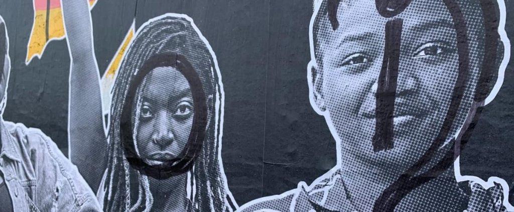 The Black Lives Matter Plaster vandalism in Quebec