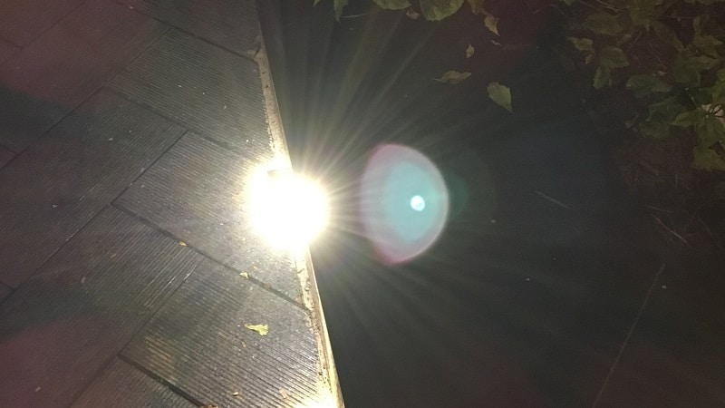 Lens flare on iPhone