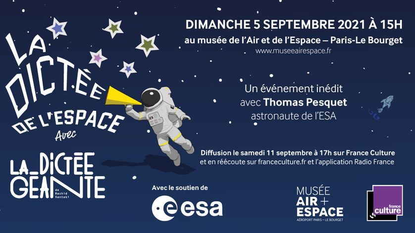 The first dictation from space with La Dictée Géante