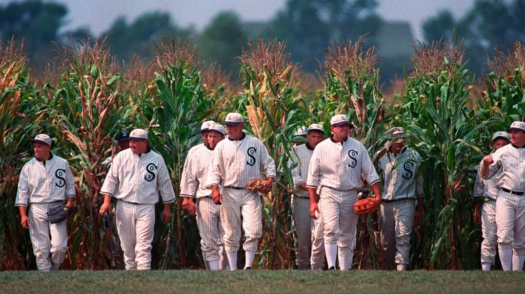 """The first major baseball game at the location where """"Field of Dreams"""" crystallized."""