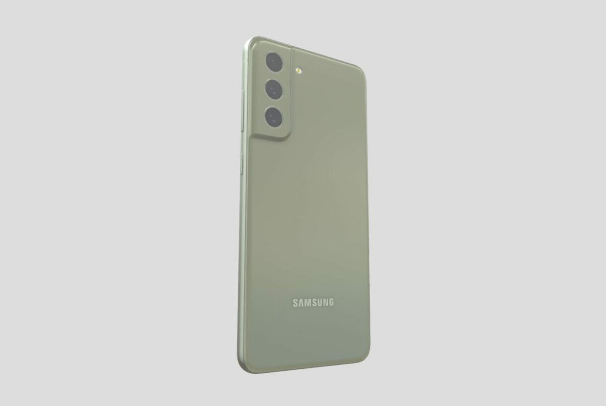 3D rendering of the Samsung Galaxy S21 FE