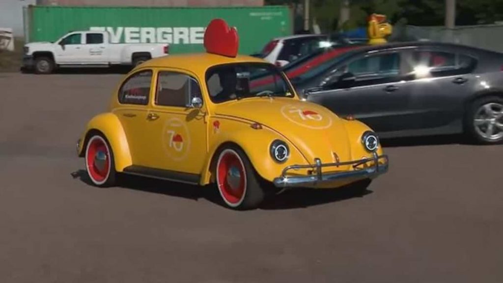 A beetle delivery turned into electricity