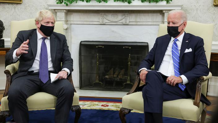 Le premier ministre britannique Boris Johnson et le président américain Joe Biden.