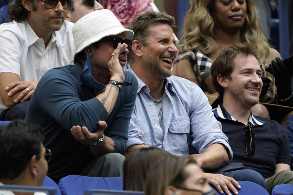 Brad Pitt and Bradley Cooper, the 'bromance' magician in front of the US Open final