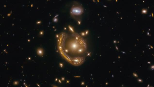 Einstein's ring has been studied in detail
