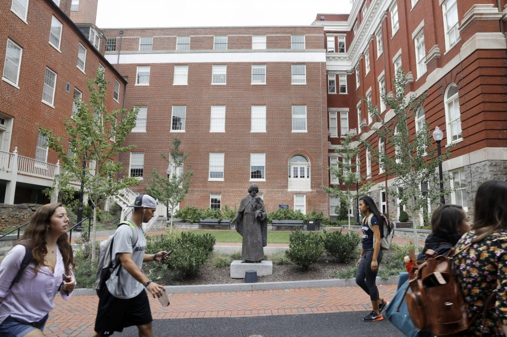 Georgetown says two samples are detecting norovirus in the campus community and nearly 100 are showing symptoms.