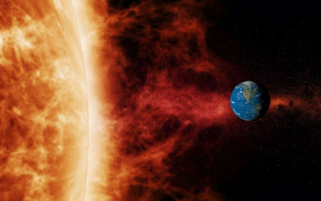 Une tempête solaire suffisamment puissante pourrait provoquer un black-out de notre réseau internet. © SN, Adobe Stock
