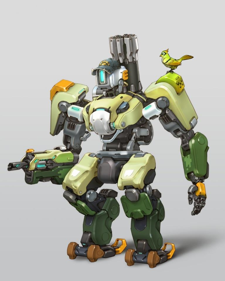Bastion's new look in Overwatch 2
