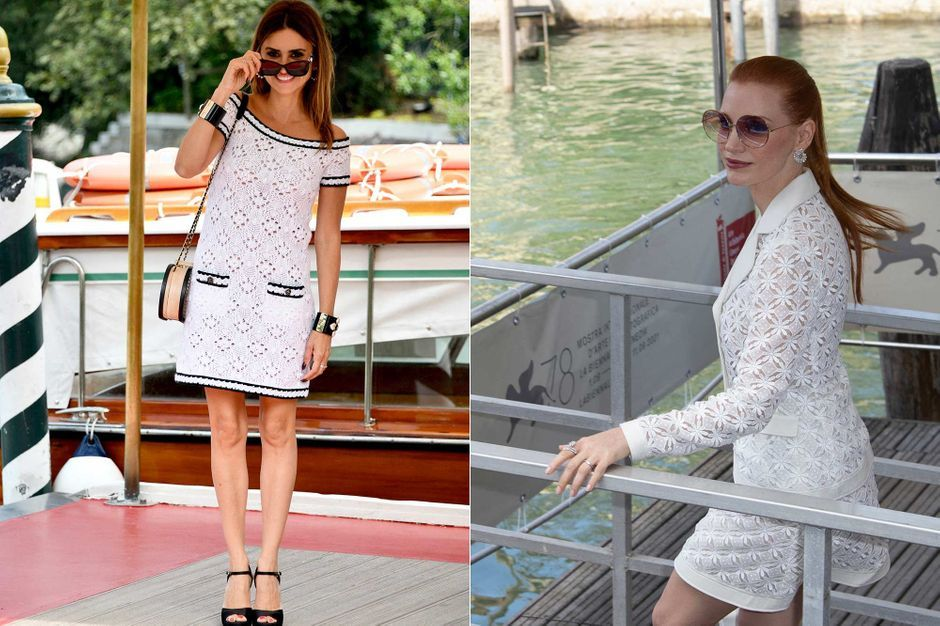 Penélope Cruz and Jessica Chastain compete in style in Venice